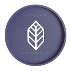 Miếng lót ly cao su màu tím than 9,8 cm