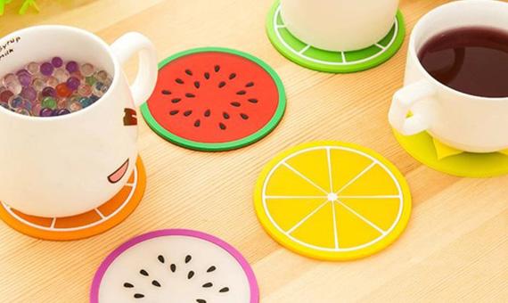 Miếng lót ly cao su hình trái cây