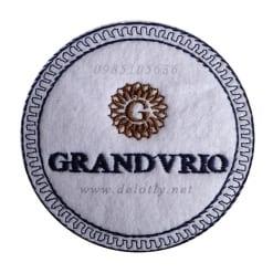 Đế lót ly vải loại tròn cho khách sạn